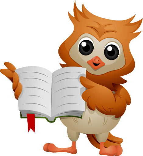 Owl with a book